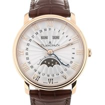 Blancpain Villeret 40 Moon Phase Silver Dial