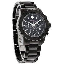 Movado Series 800 Mens Black Dial Swiss Chrono Quartz Watch...