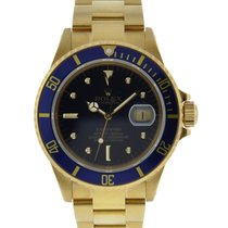 Rolex Submariner Date 18kt Yellow Gold Blue Nipple Dial 18kt...