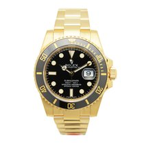 勞力士 (Rolex) Submariner(date) 18 K Yellow Gold Black Automatic...
