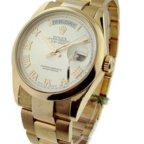 Rolex Used 118205 Mens Rose Gold Day Date President - circa...
