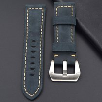 strap Leather strap in 22mm - Blue in 22/20mm fit Panerai...