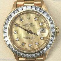 Rolex Ladies President 18k Gold Diamond Tapestry Dial &...