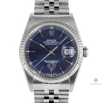 Rolex Datejust Stainless Steel Blue Stick Dial Fluted Bezel...