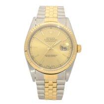 Rolex Datejust 16233 - Gold Baton Dial - 2004