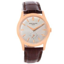 Patek Philippe Calatrava 18k Rose Gold Mechanical Watch 5196r...