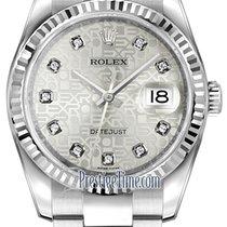 Rolex Datejust 36mm Stainless Steel 116234 Jubilee Silver...