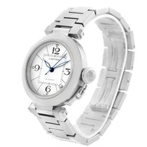 Cartier Pasha C Medium White Dial Steel Unisex Watch W31074m7