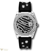 Rolex Oyster Perpetual Datejust Royal Black 18K White Gold...