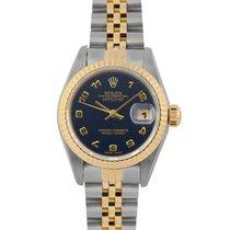 Rolex Datejust Ladies Steel & Gold Navy Blue JubileeDial...