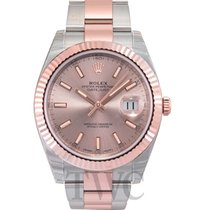 Rolex Datejust 41 Sundust/Rose gold Oyster 41mm - 126331