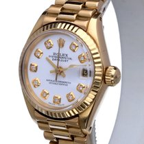 Rolex Oyster Perpetual Datejust Yellow Gold Diamonds 18 kt (26...
