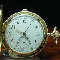 14kt 585 Gold Savonette Taschenuhr Chronograph Viertel-repetition