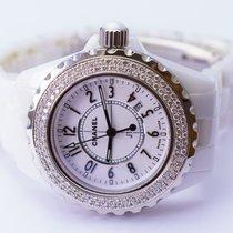 Chanel J12 Classic 33mm Ceramic Diamond Bezel Watch