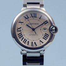 Cartier Ballon Bleu 42 mm Automatik Datum Stahl -NEU-