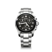 Victorinox Swiss Army Chrono Classic, black dial, steel,...