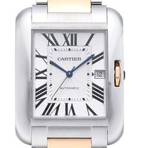 Cartier Tank Anglaise XL Edelstahl und Rotgold Ref. W5310006