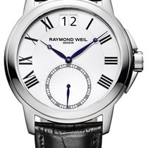 Raymond Weil Tradition Stainless Steel Mens Strap Watch Date...