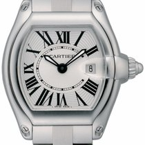 Cartier Roadster 2675 Ladies Watch W62016V3 Steel / Silver...