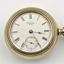 Waltham P.s. Bartlett Silveroid Train Pocket Watch
