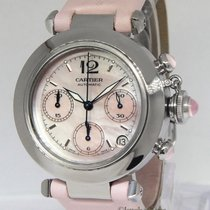 Cartier Pasha Chronograph Pink MOP Dial Steel 35mm Automatic...