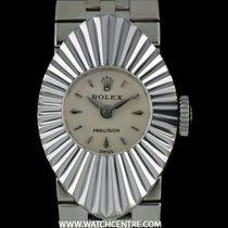 Rolex 18k White Gold Silver Dial Rare Chameleon Precision Ladies