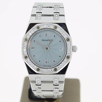 Audemars Piguet Royal Oak UltraThin Steel AftersetDiamonds...