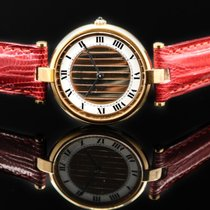 Cartier Vermeil Sterling Goldplated Quartz Tricolo