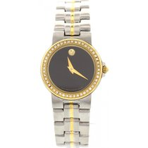 Movado Museum Bubble 18K Yellow Gold Plated & SS &...
