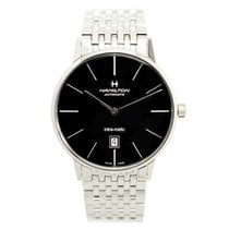 Hamilton Stainless Steel Black Automatic H38755131