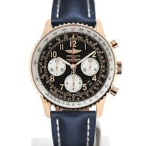 Breitling Navitimer 01 43 Arabic Numeral Dial Gold Case Blue...