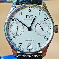 IWC Portuguese 7 Day Automatic Steel White Dial Blue Hands,...