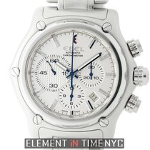 Ebel 1911 BTR Chronograph Stainless Steel 45mm Silver Dial