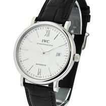IWC IW356501 Portofino Automatic in Steel - on Black Leather...