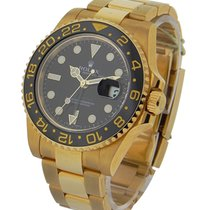Rolex Used 116718_used GMT Master II in Yellow Gold - Green...