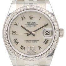 Rolex Datejust 178240 31mm Midsize Diamond Pave 6 VI White...