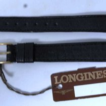 浪琴 (Longines) leather strap black mm 12 and buckle gold plated...