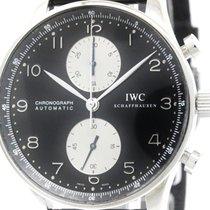 IWC Polished Iwc Portuguese Chronograph Steel Automatic Watch...