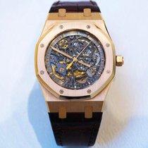Audemars Piguet Skeleton Royal Oak Rose Gold Leather Watch