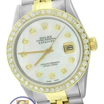 Rolex DateJust 36mm 16030 Diamond MOP Two Tone Stainless Jubilee