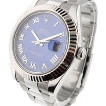 Rolex Used 116334_used_blue_roman Datejust II 41mm with White...