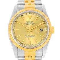 Rolex Datejust Steel Yellow Gold Automatic Unisex Watch 16233