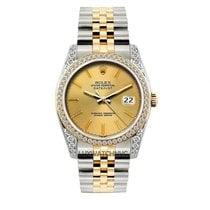 Rolex Datejust Men's 36mm Champaigne Dial Gold And...