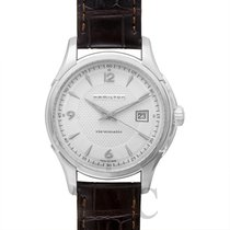 Hamilton Jazzmaster Viewmatic Auto Silver Steel/Leather 40mm -...