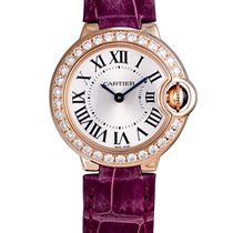Cartier Ballon Bleu 18 K Rose Gold With Diamonds Silvery Whi