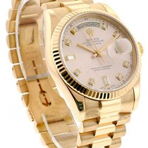Rolex Used 18235 Mens Rose Gold President with President...
