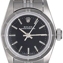 Rolex Ladies Oyster Perpetual Watch 67230 Black Dial