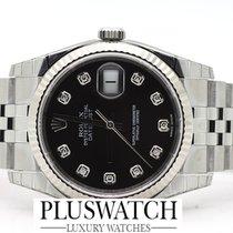 Rolex DATEJUST 116234  Diamond Brilli Black Dial Diamanti