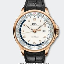 IWC Portoghese Yacht Club Worldtimer Red Gold 18K Silver Dial