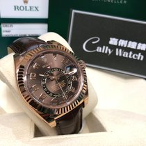 Rolex Cally - [NEW] Sky-Dweller 326135 Chocolate Brown 皮帶 朱古力面